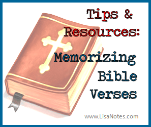 Tips and resources for memorizing Bible verses