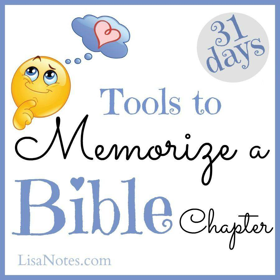 31 Days to Memorize a Bible Chapter