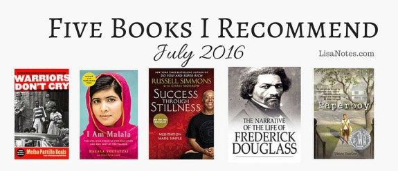Five Books I Recommend-July-2016-Lisanotes