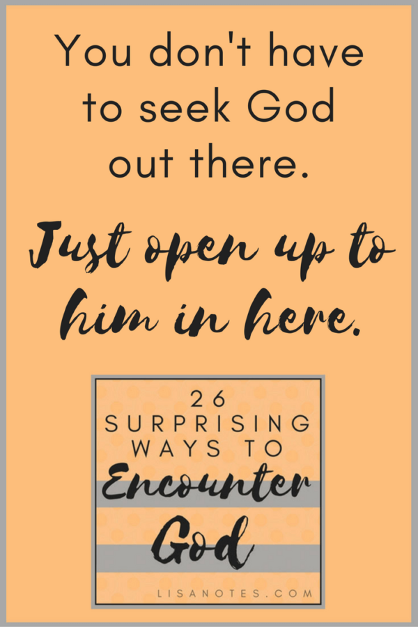 26 Ways to Encounter God series_Lisanotes