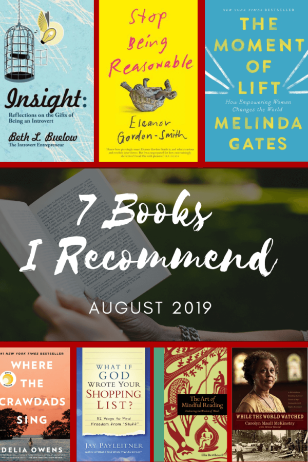7 Books I Recommend_August 2019