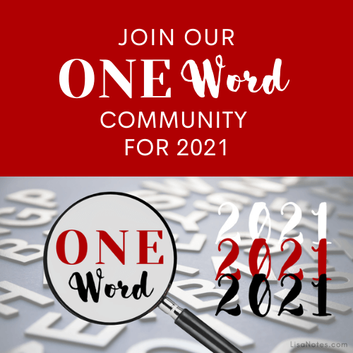 Join Our One Word 2021 Community